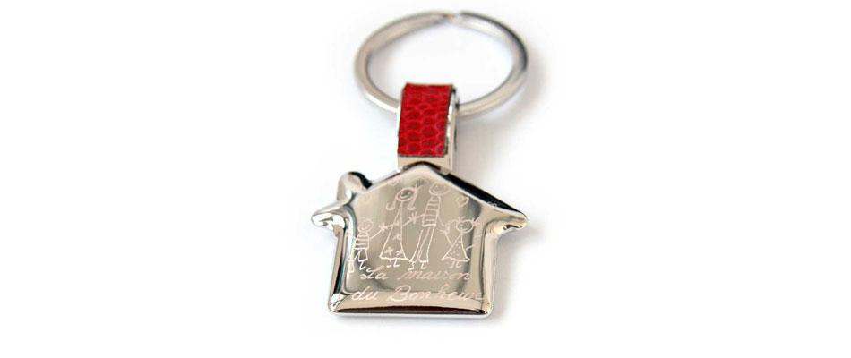 Porte clés en cuir